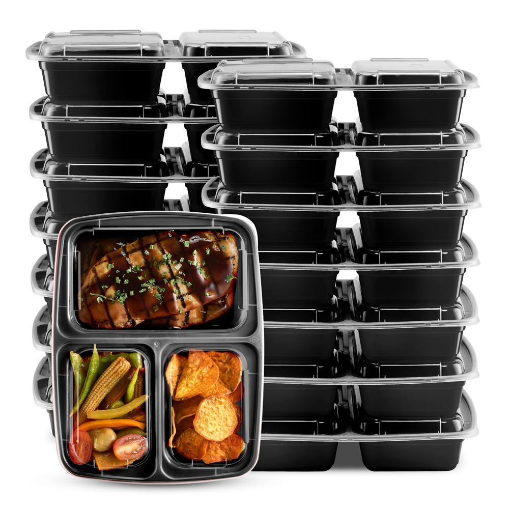 Superieur Black Meal Preparation Cooler And Food Storage Container ...