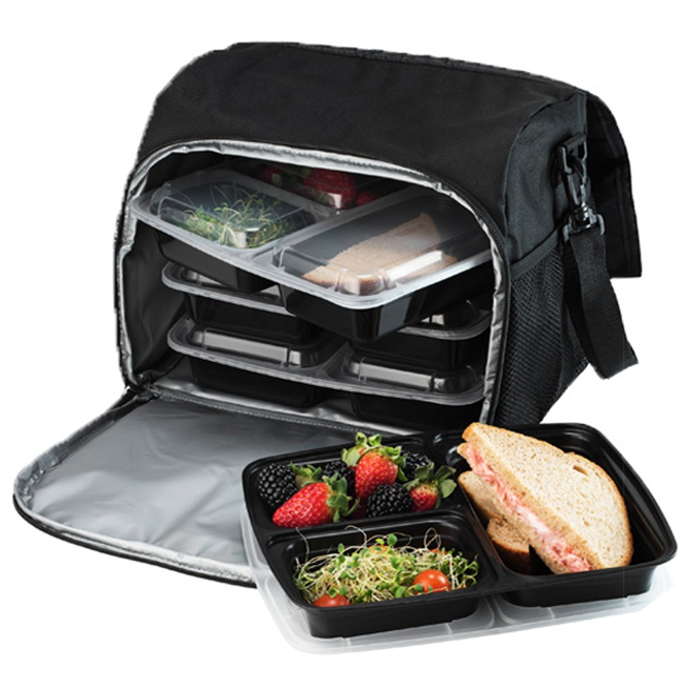 Black Meal Preparation Cooler And Food Storage Container ...